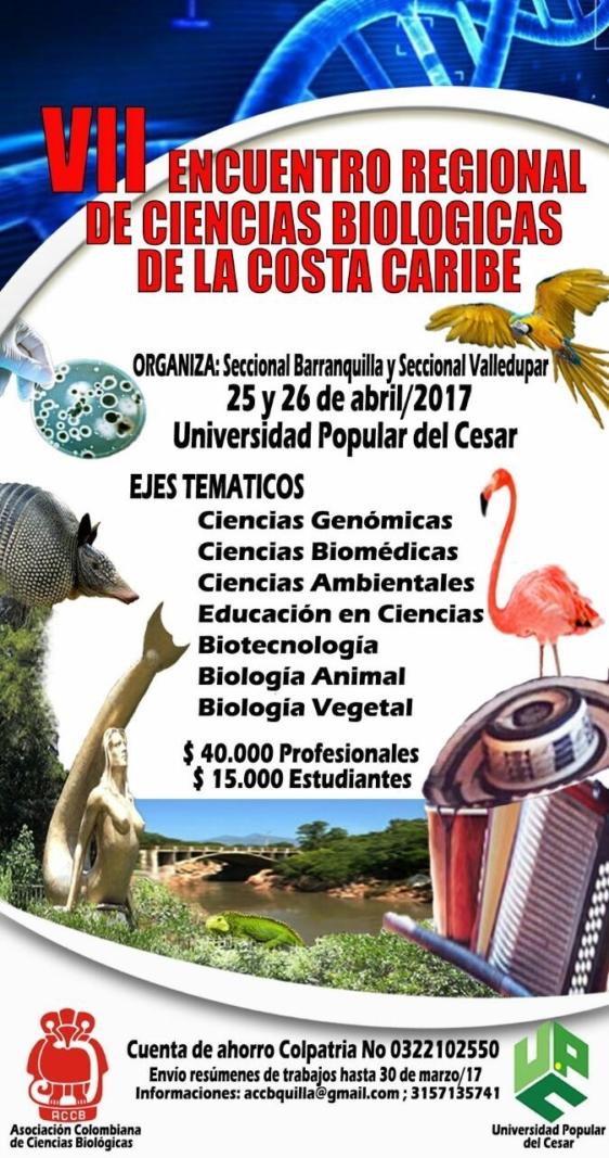 VII ENCUENTRO REGIONAL DE CIENCIAS BIOLÓGICAS EN EL CARIBE